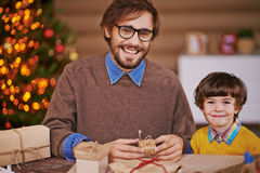 Surpresas do Natal Fotos de Stock