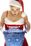 Surpriced Mrs. Santa. Royalty Free Stock Photo
