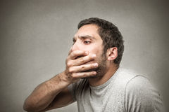 Surpriesed astonished man Stock Images