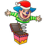 Surprise!. Clown jump out from box Stock Photos