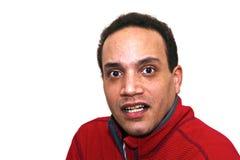 African American looking surprised Stock Photos