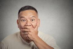 Surprise astonished stunned man Royalty Free Stock Images