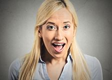 Surprise astonished woman Stock Images