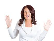 Surprise astonished woman Royalty Free Stock Photography