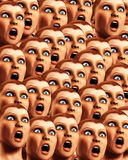 Surprise Background 15. An image of a background made out of a load of surprised or scared women Royalty Free Stock Photos