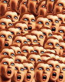 Surprise Background 16. An image of a background made out of a load of surprised or scared women Royalty Free Stock Images