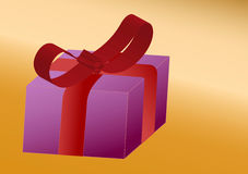 A surprise ,big gift box, illustration Royalty Free Stock Photography