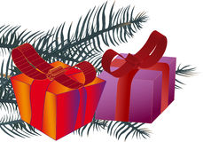 A surprise ,big gift box, illustration stock images