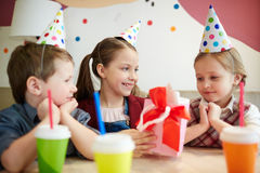 Surprise for birthday Royalty Free Stock Images