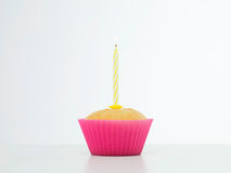 Surprise birthday cupcake Stock Image