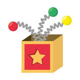 Surprise box april fools Stock Photo