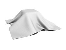 Surprise box covered with white cloth Royalty Free Stock Photo