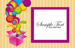 Surprise box with frame Royalty Free Stock Images