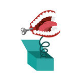 Surprise box with funny Joke teeth icon Royalty Free Stock Photos