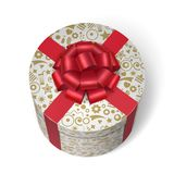 Surprise box with gifts and presents. Crossed by red ribbon and bow  vector illustration Royalty Free Stock Images