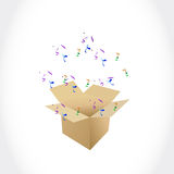 Surprise in the box. illustration design Royalty Free Stock Photo