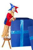 Surprise box with jester Stock Photo