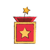 Surprise box star april fools image Stock Photo