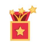 Surprise box stars april fools Royalty Free Stock Photos