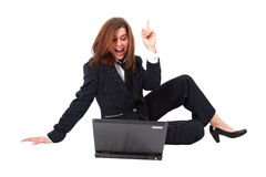 Surprise - Business Woman With Laptop Stock Images