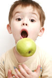 Surprise of the child. With the open mouth Stock Image