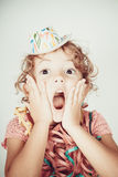 Surprise child Stock Images