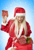 Surprise christmas box Royalty Free Stock Images