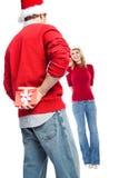 Surprise christmas gift Stock Image