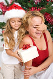 Surprise christmas present Royalty Free Stock Photo