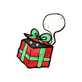 Surprise christmas present cartoon Stock Photo