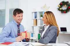Surprise for colleague Royalty Free Stock Images