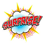 Surprise! Comic style phrase. Stock Photography