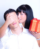 Surprise couple Royalty Free Stock Photos
