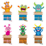 Surprise from Cute Monster Royalty Free Stock Photo