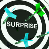 Surprise On Dartboard Shows Shocked Target Stock Images