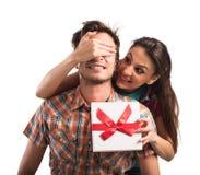 Surprise de cadeau photographie stock libre de droits