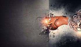 Surprise de gant de boxe Media mélangé Photo stock