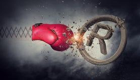 Surprise de gant de boxe Media mélangé Image libre de droits