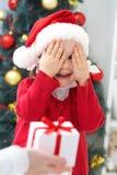 Surprise de Noël Photographie stock