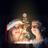 Surprise de Noël Images libres de droits
