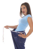 Surprise de perte de poids Photos stock