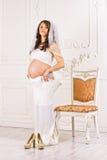 Surprise de robes de maternité Images libres de droits