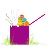 Surprise easter box Royalty Free Stock Photography