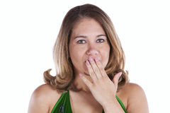 Surprise expression Stock Images