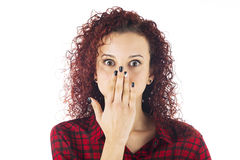 Surprise expression Stock Image