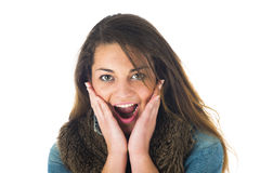 Surprise expression Stock Photography