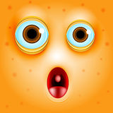 Surprise or fright cartoon face Royalty Free Stock Photos