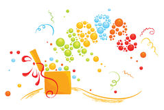 With a surprise gift. Illustration --- festive background with the wishes of happiness Royalty Free Stock Image