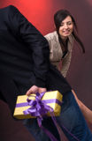 Surprise gift Stock Photos