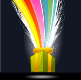 Surprise gift Royalty Free Stock Image